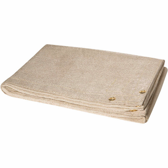 8' x 8' Welding Blanket - 18 oz Heat Cleaned Fiberglass - Tan