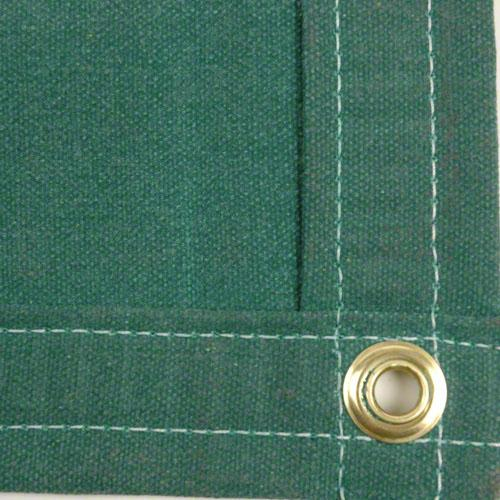 Sigman 8' x 10' Heavy Duty Cotton Canvas Tarp 18 OZ - Green - Made in USA