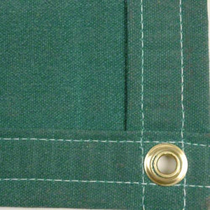 Sigman 6' x 20' Heavy Duty Cotton Canvas Tarp 18 OZ - Green - Made in USA