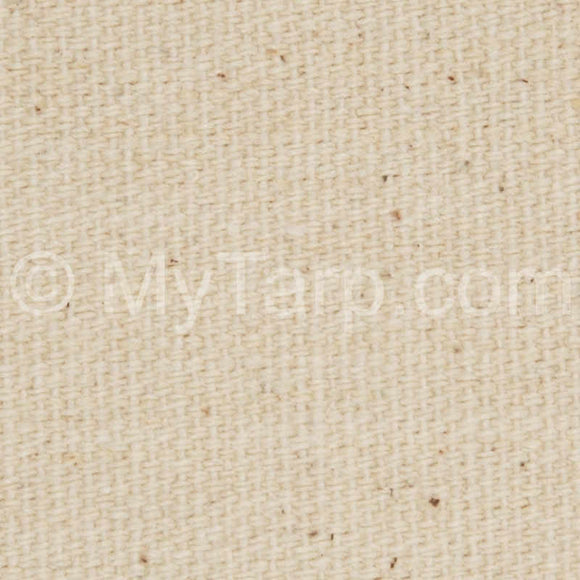 Sample Swatch - #12 Natural Cotton Duck Canvas Fabric