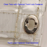 Twist Lock Fastener Oval Eyelet and Washer - 10 Pairs