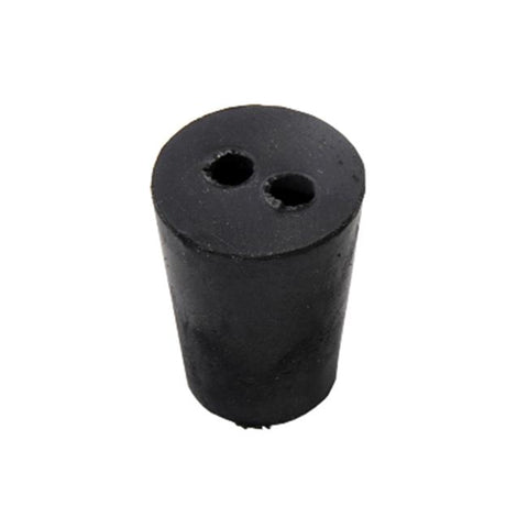 Rubber Stoppers, Black/Blue,Double Hole