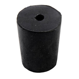 Rubber Stoppers, Black/Blue,Single Hole
