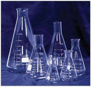 Flasks, Erlenmeyer, Narrow Mouth, Borosilicate