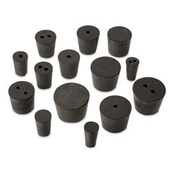 Rubber Stoppers, Black/Blue, Solid