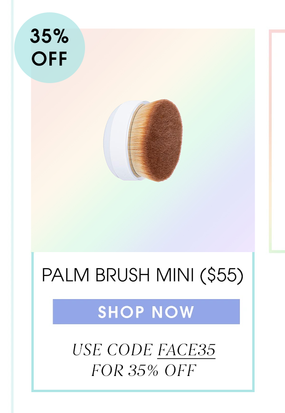 Palm Brush Mini ($55) now 35% off with code FACE35. Shop now.