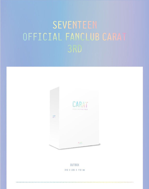 SEVENTEEN - Official Fanclub Kit CARAT 3RD GENERATION