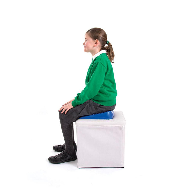 Girl Sitting On 66fit Junior Inflatable Wedge Cushion