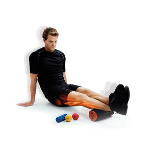 Man Using 66fit Trigger Point Massage Roller