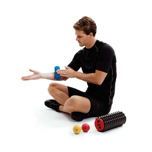 Man Using 66fit Trigger Point Massage Mini Roller