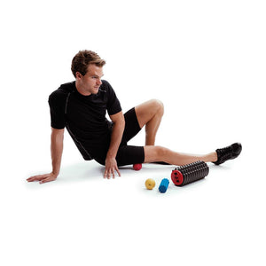 Man Using 66fit Trigger Point Acupressure Massage Ball