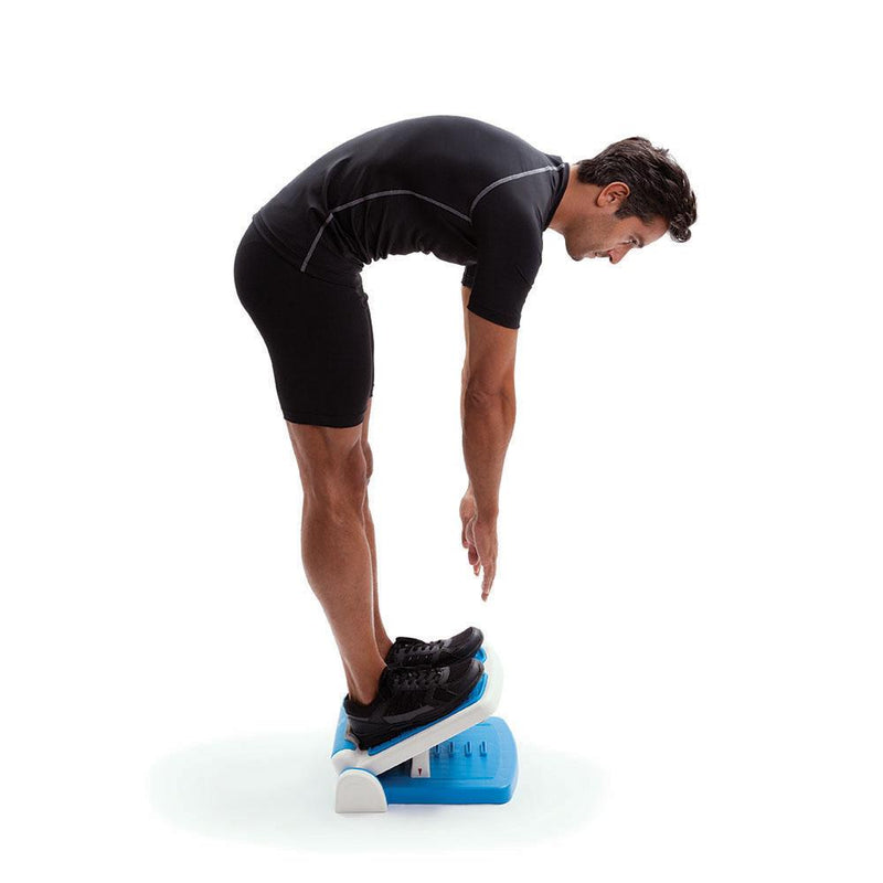 Man Stretching Using 66fit Multi Adjustable Stretch Board