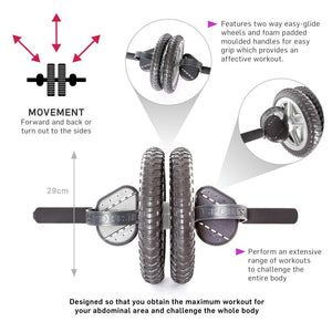 66fit Abs & Core Power Wheel With Knee Pad Information
