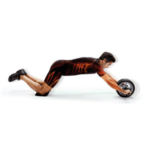 Man Using 66fit Abs & Core Power Wheel With Knee Pad