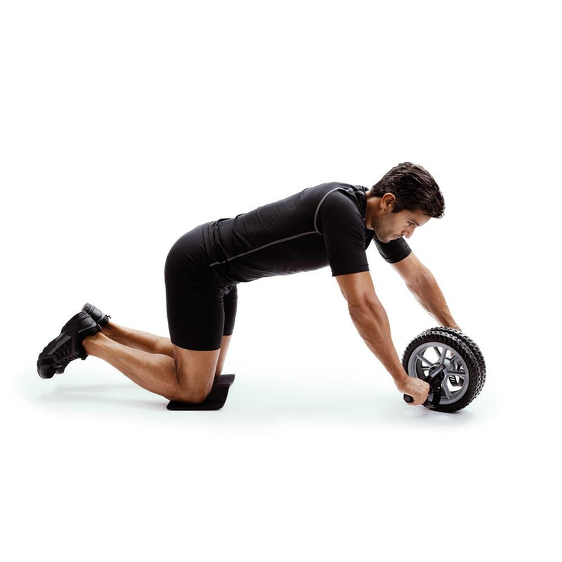 Man Using 66fit Abs & Core Power Wheel With Knee Pad 3