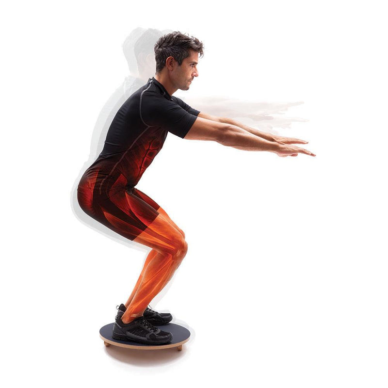 Man Using 66fit Balance/Rocker Board Set - 45cm