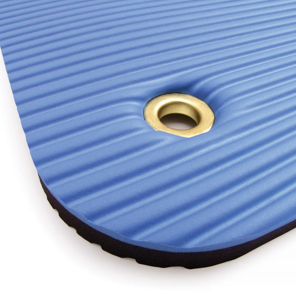 Close Up Of 66fit Professional Exercise Mat - 17mm x 60cm x 180cm - Blue/Black