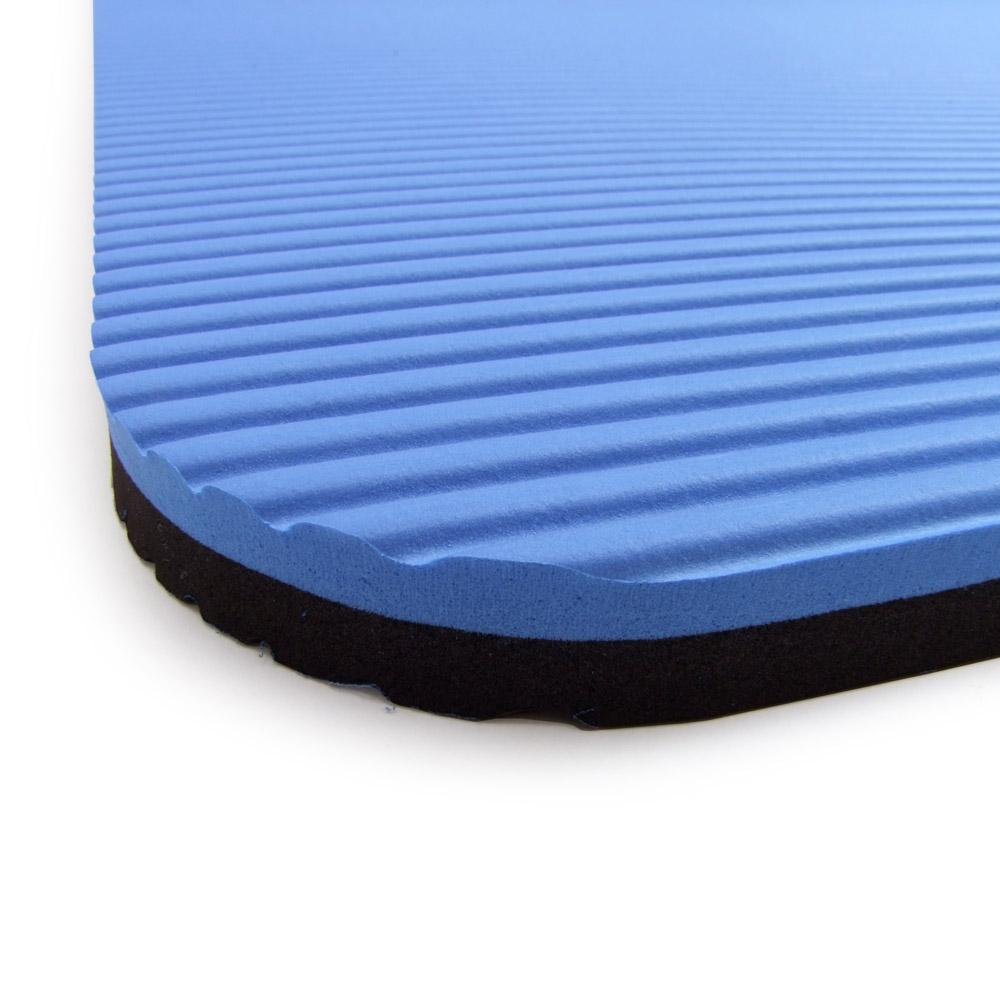 Close Up Of 66fit Professional Exercise Mat - 17mm x 60cm x 180cm - Blue/Black 2