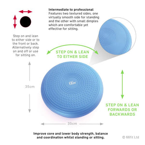 66fit Intermediate - Professional Balance Cushion & Pump - 35cm