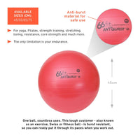 66fit Gym Ball 45cm