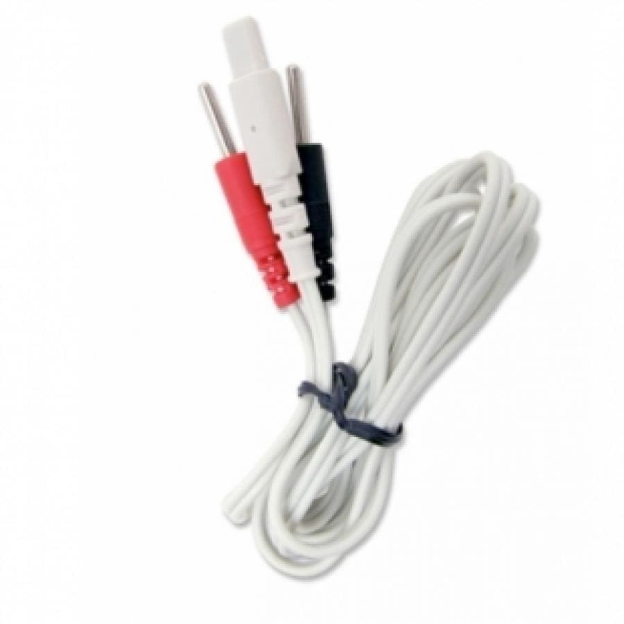 NEUROTRAC PATIENT LEAD - WHITE LEAD BLACK/RED ENDS