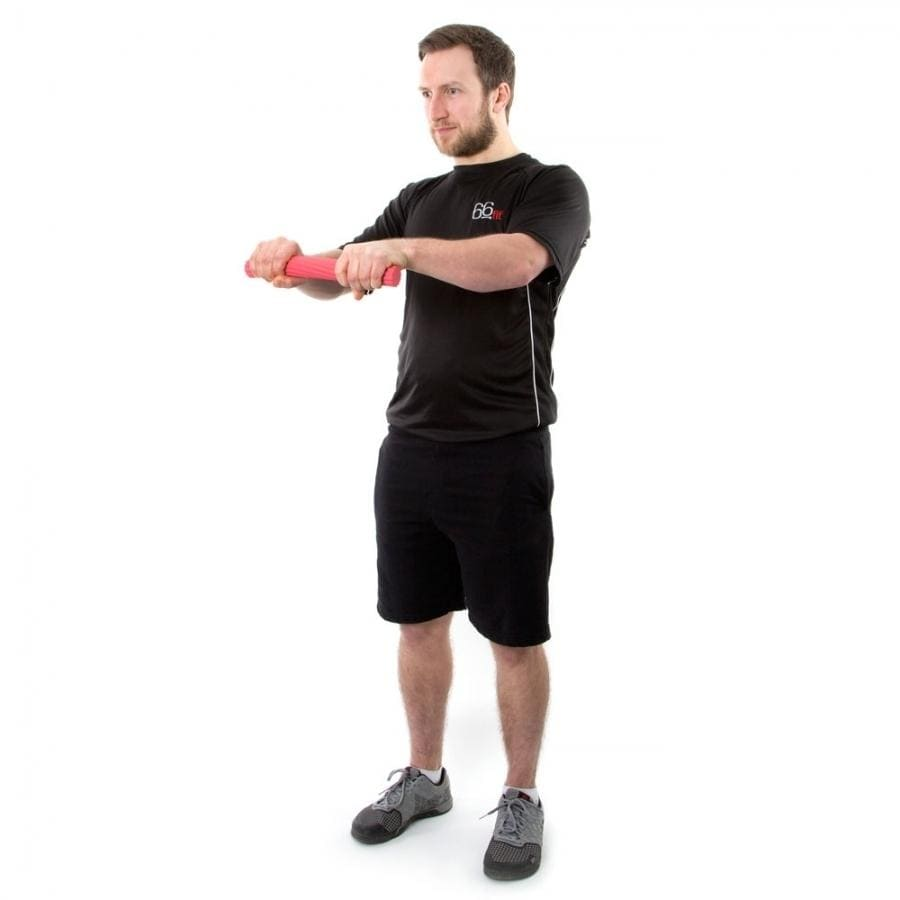 TWIST AND FLEX BAR DESIGNED TO EXERCISE HAND, WRIST, FOREARM AND FINGER MUSCLES
