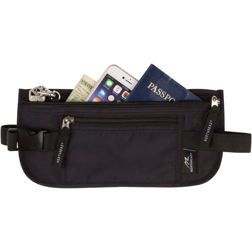 NorthReady Money Belt for Travel, Hidden Waist Pack with RFID Blocking Lining - Durable and Lightweight 11-1/8