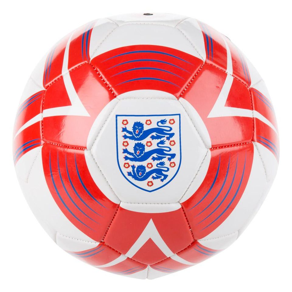 Official England National Team Football - Cyclone Ball - White, Red, Blue - Size 5