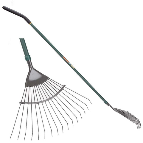 Yeomans Carbon Steel Garden Rake - Green