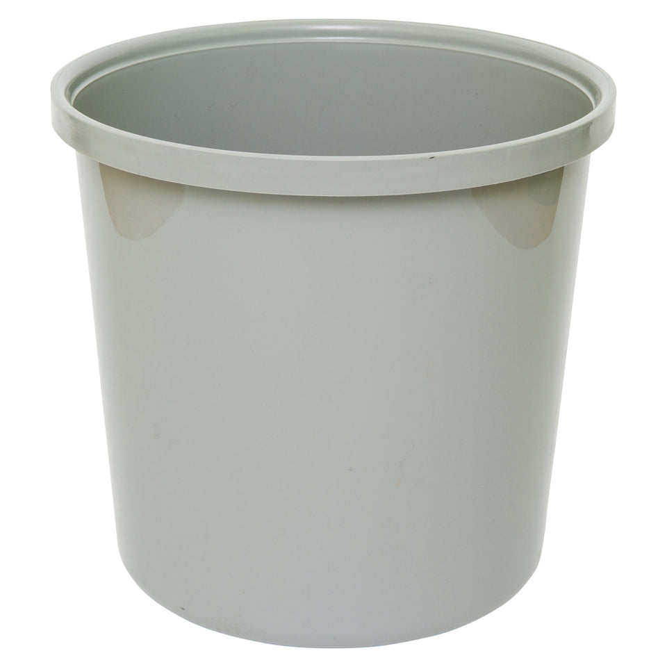 Banner Office Plastic Waste Paper Bin - Grey  - 18 Litre