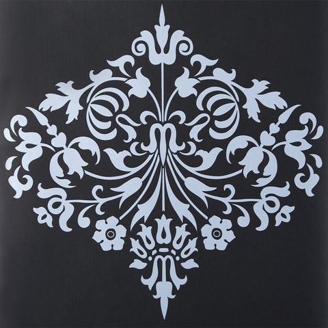 Amy Butler Wallpaper Fountain Damask Stone Black Grey