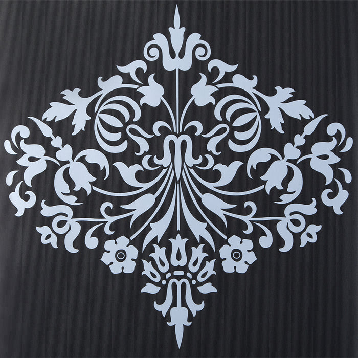 Amy Butler Wallpaper - Flat Damask - Fountain Stone Black Grey 50-133 - SAMPLE