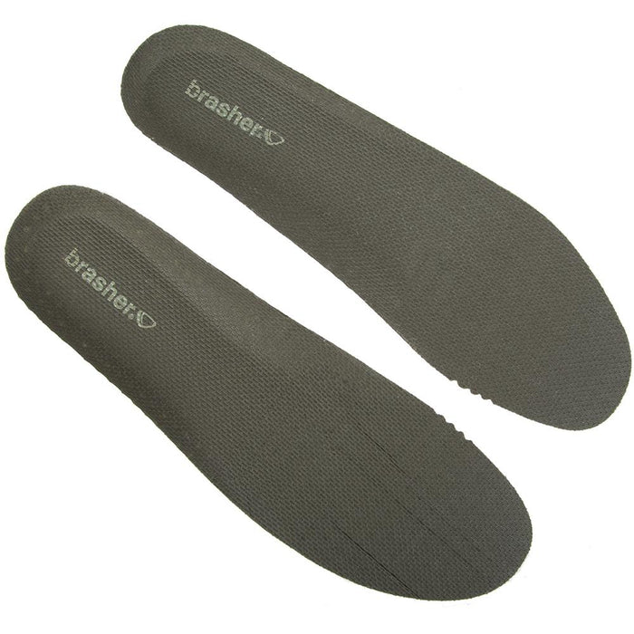 Brasher 2.5mm Thin Shock Absorbing Shoe Insoles - Green - Size 7