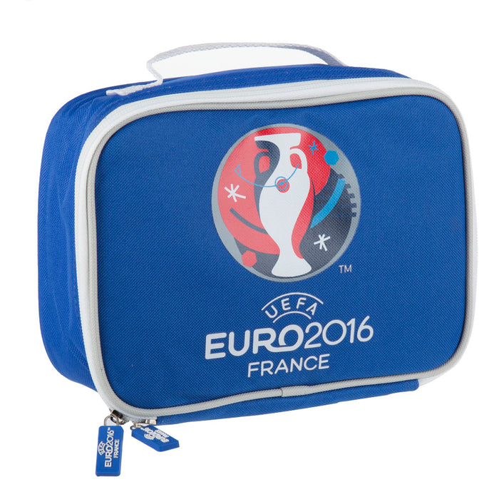 2016 Official UEFA Euro Small Lunch Bag With Zip Snack Storage Blue & White