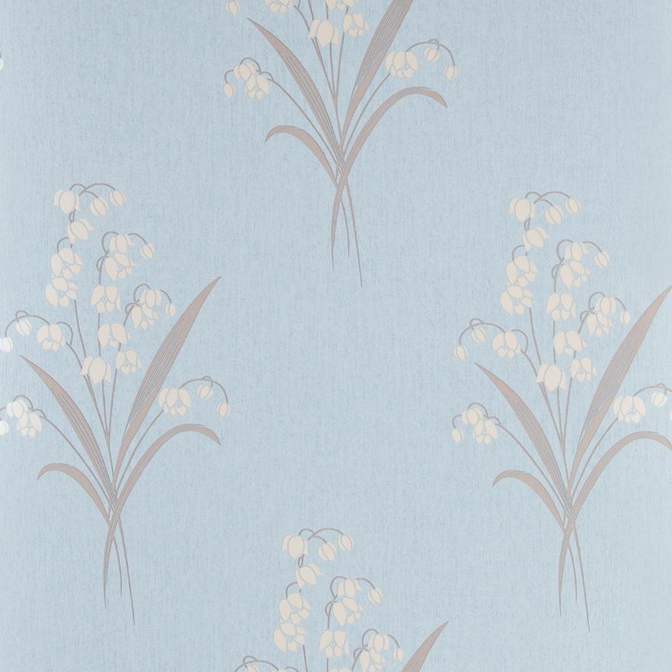 Fresco Wallpaper Roll - Flat Floral - Valley Duck Egg Blue - 50-269 - SAMPLE