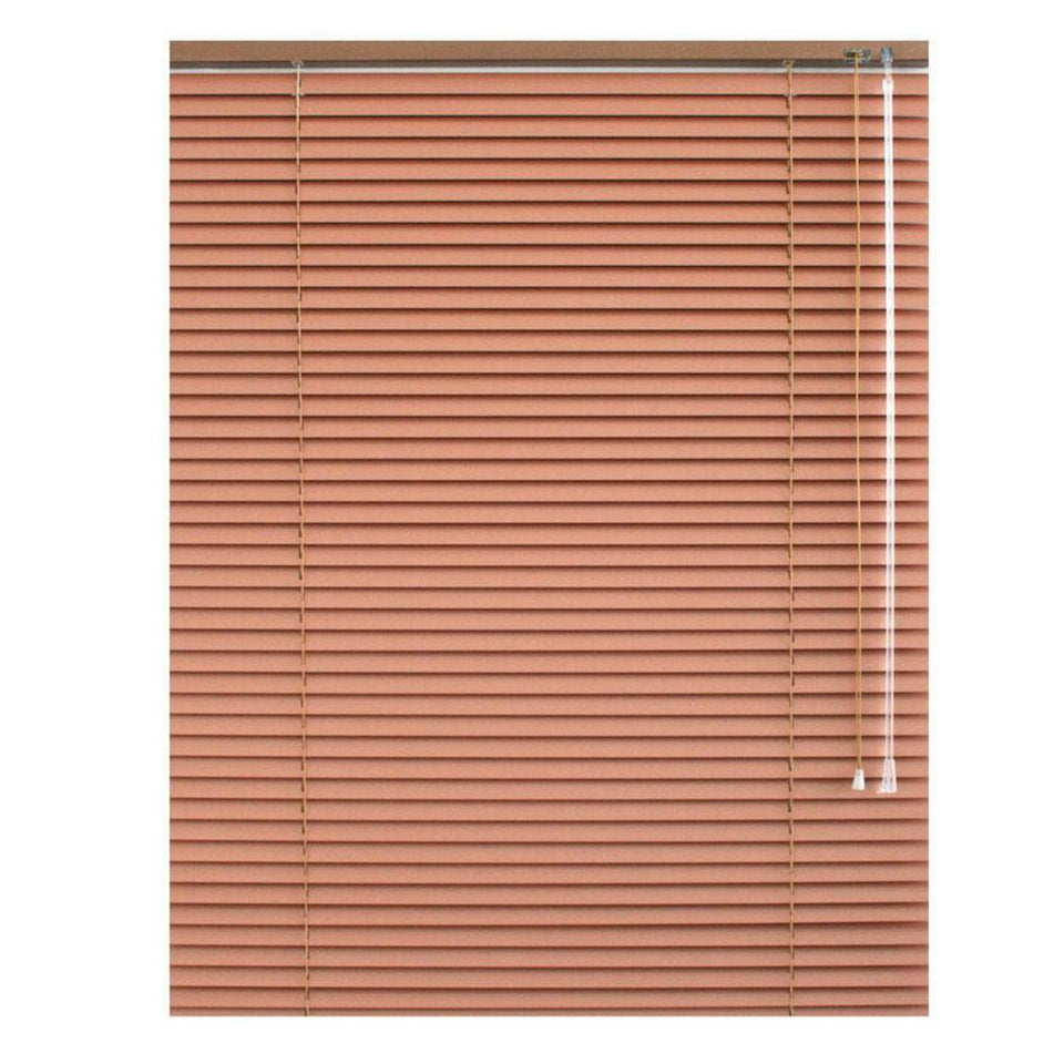Window Blinds - Venetian Blind Aluminium 25mm - Terracotta - 140 x 175cm