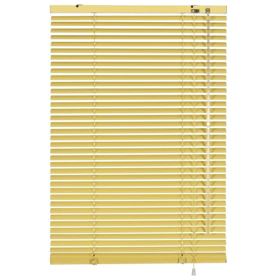 Window Blinds - Venetian Blind Aluminium 25mm - Vanilla - 120cm(W) x 175cm(L)