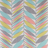 Contour Wallpaper - Kitchens/Bathroom - Abstract Leaves Multi - 20-584 - SAMPLE