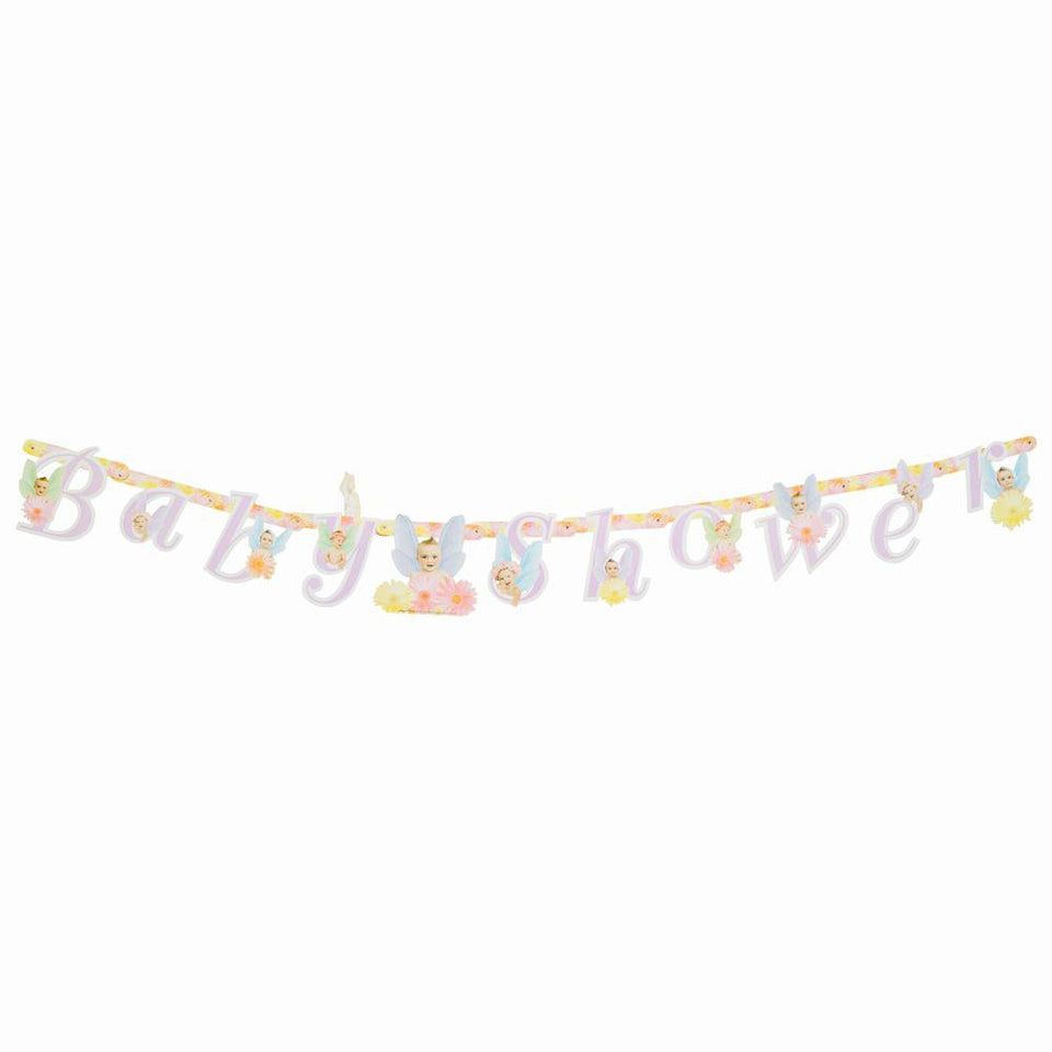 3 x Amscan Flitterbyes Baby Shower Party Banner - Fairies