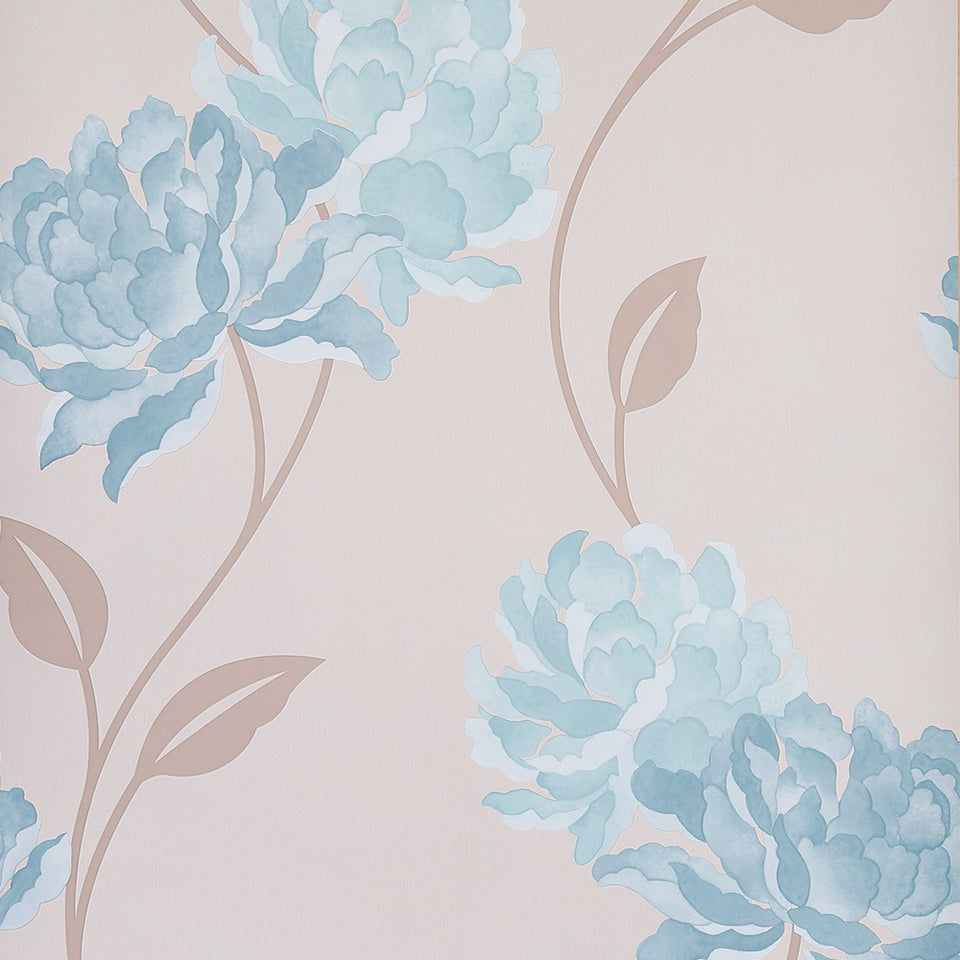 SAMPLE - Dulux Feature Wallpaper - Easy Hang - Peony - Teal - 30-019