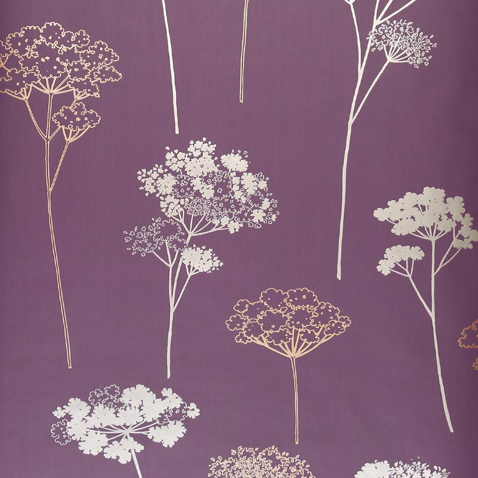 Dulux Feature Wallpaper - Easy Hang - Meadowsweet Plum - 30-027 - SAMPLE