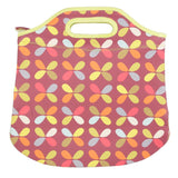 Neoprene Lunch Carrier Bag - Retro Style - Brown - 30 x 26.5cm