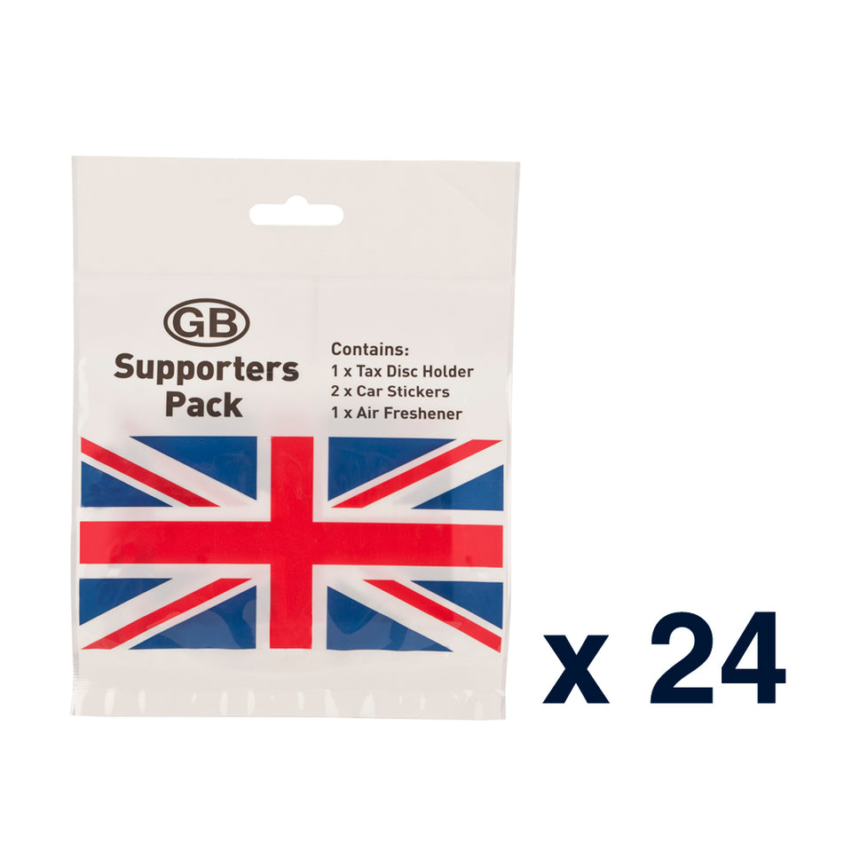 24 x Union Jack Car Tax Disk Holder, Air Freshener & Stickers Set