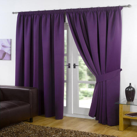 Blackout Curtains - Plum - 46 x 72