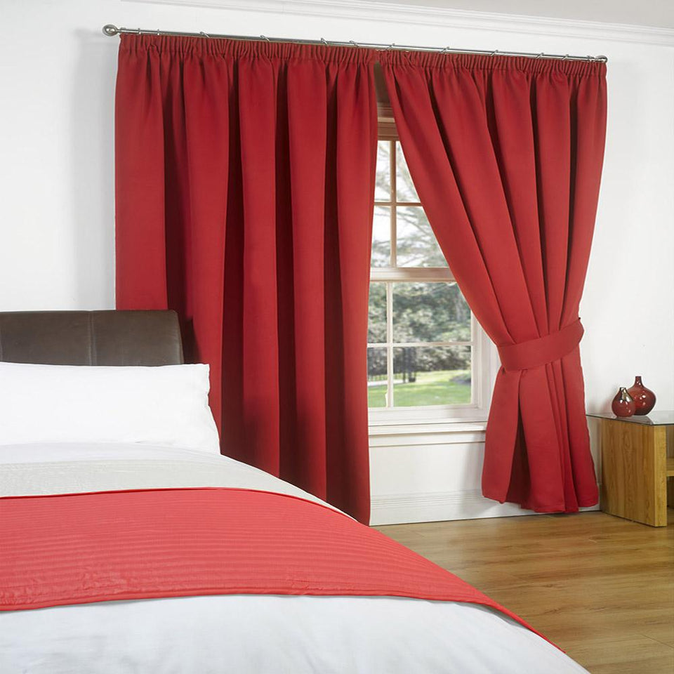 Textiles - Luxury Blackout Curtains - Red - 46x72""