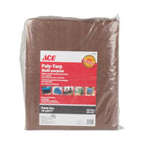 ACE Multi Purpose Poly Tarpaulin - Brown/Green - 5.7m x 8.8m | 19ft x 29ft