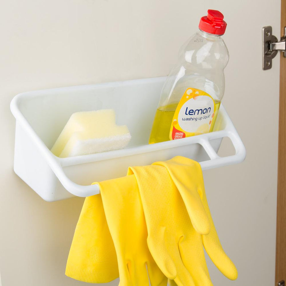 Cleaning Item Storage Caddy - Wall Mounted Tray Cloth Hanger