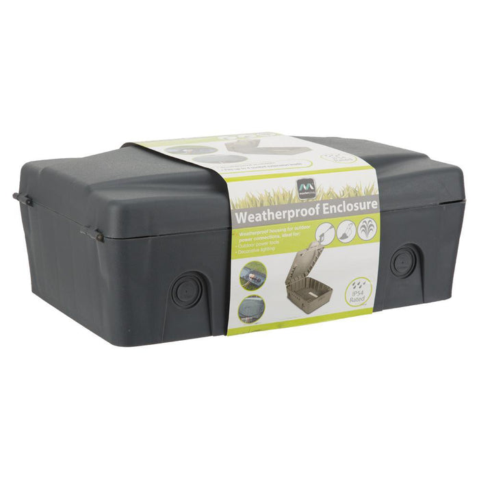 Home & Living, Cables & Accessories - Masterplug Weatherproof Outdoor Enclosure Box IP54 - Dark Grey