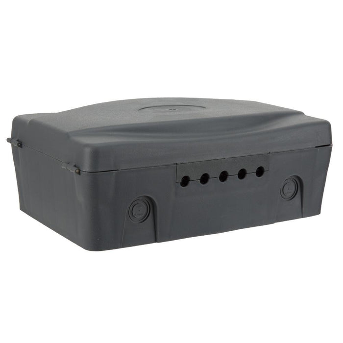 Masterplug Weatherproof Outdoor Enclosure Box IP54 - Dark Grey