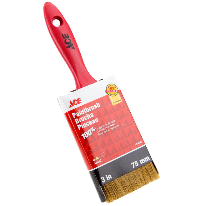 "Ace - Select Paint Brush - 100% Polyester Bristle - 3""/75mm"